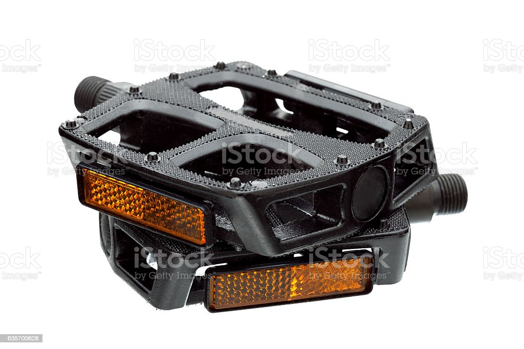 Pedals with a light reflector. royalty-free stock photo
