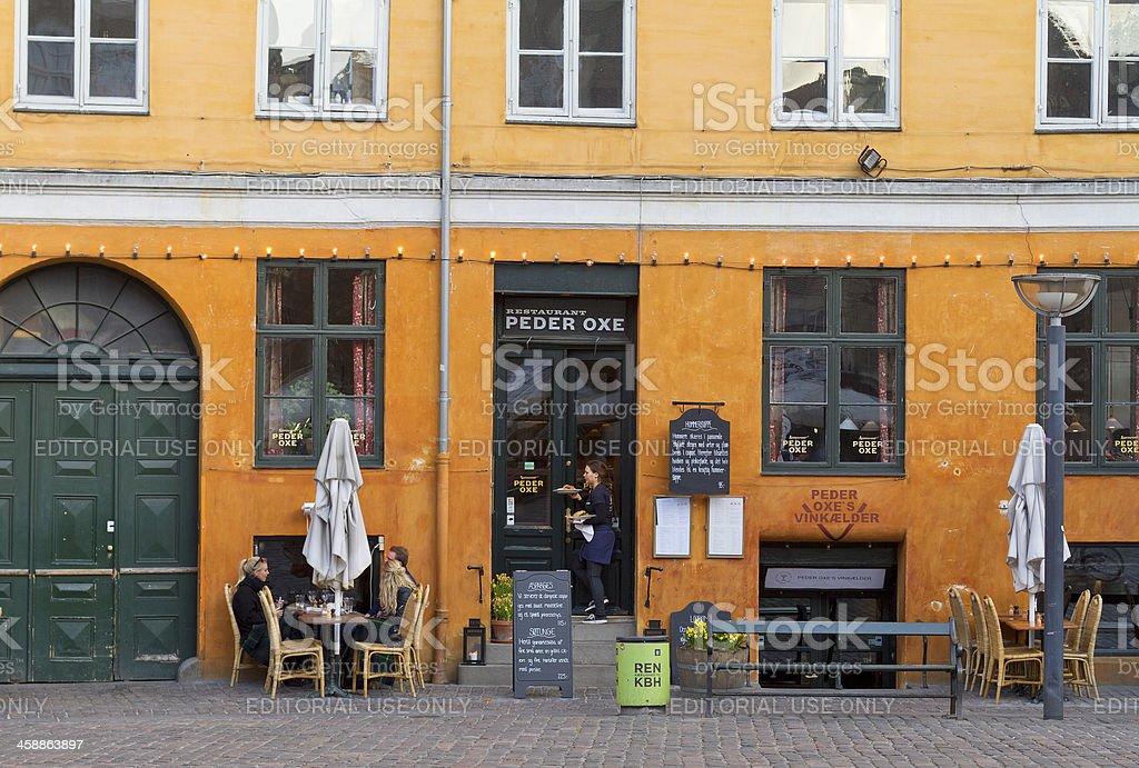 Peder Oxe Restaurant in Copenhagen stock photo