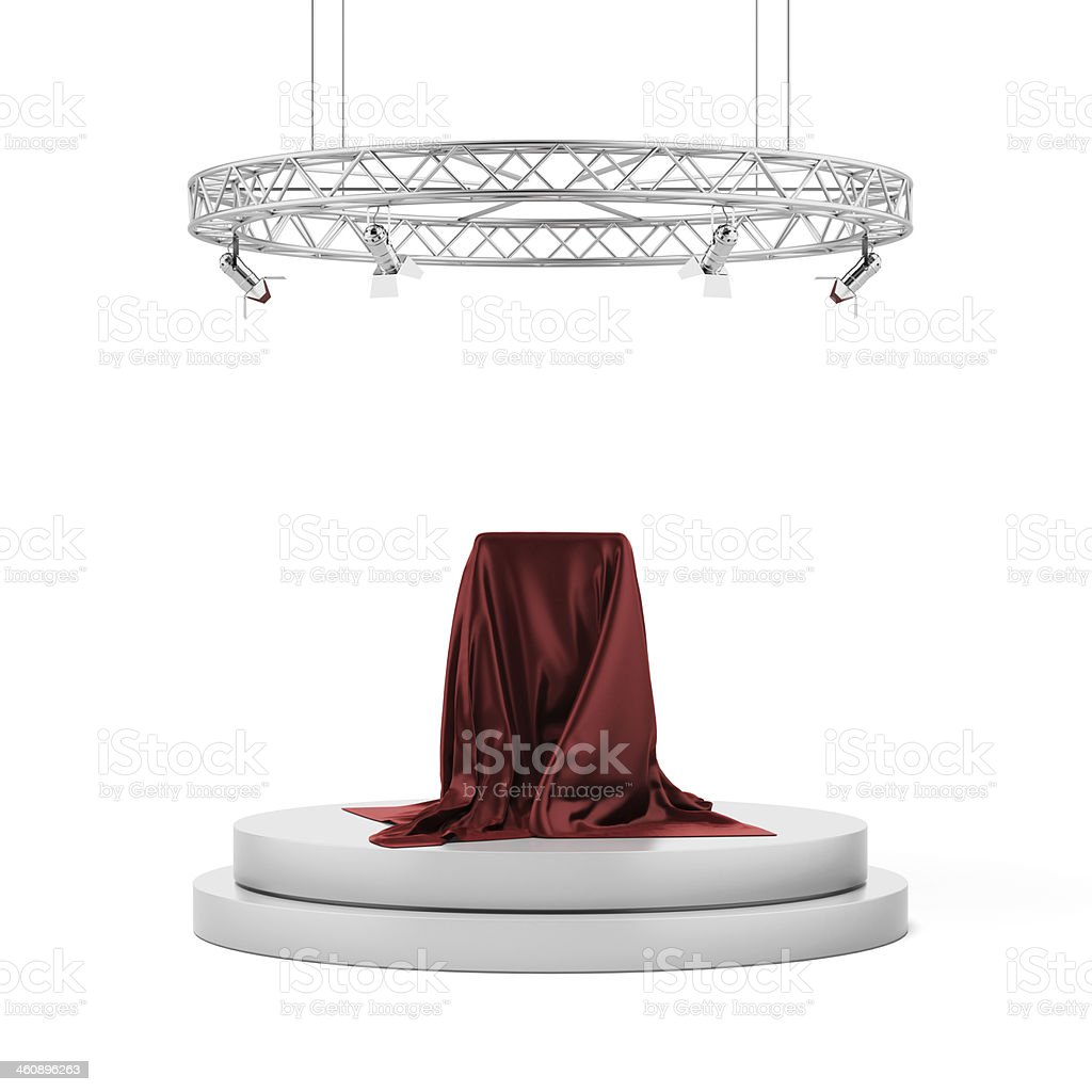 pedestal covered stock photo