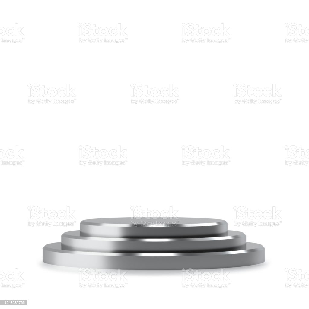 Pedestal for display stock photo