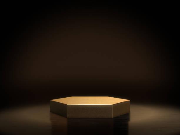 pedestal for display,platform for design,blank product stand.3d rendering. - regal schwarz stock-fotos und bilder