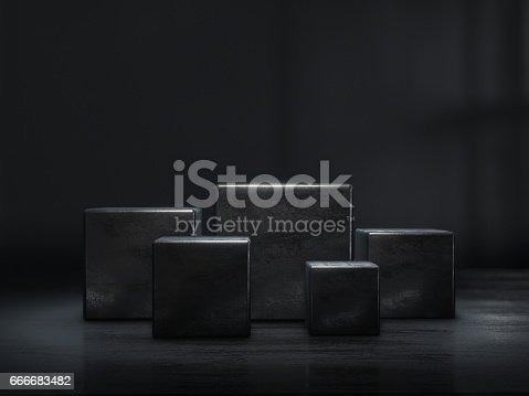 istock Pedestal for display,Platform for design,Blank product stand.3D rendering. 666683482