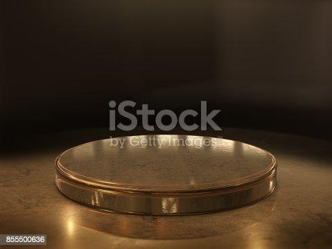 istock Pedestal for display,Platform for design,Blank product stand.3D rendering. 855500636