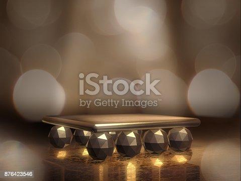 istock Pedestal for display,Platform for design,Blank product stand.3D rendering. 876423546