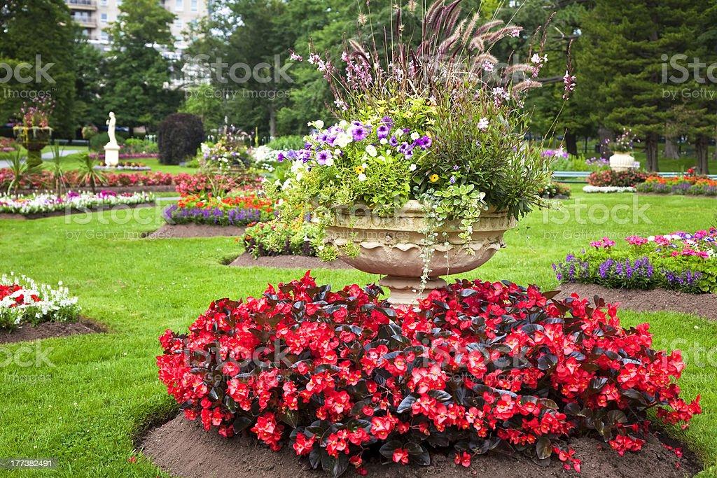Pedestal Garden Planters royalty-free stock photo