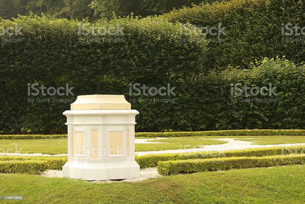 pedestal in a park royalty-free stock photo
