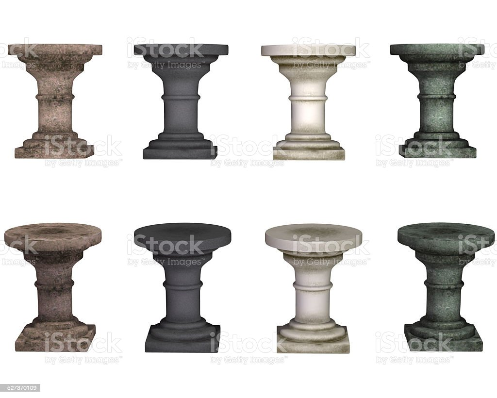 pedestal, isolated on the white background stock photo