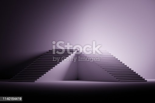 1154986671 istock photo Pedestal made of stairs 1140154419