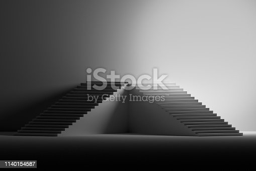 1154986671 istock photo Pedestal made of stairs 1140154587