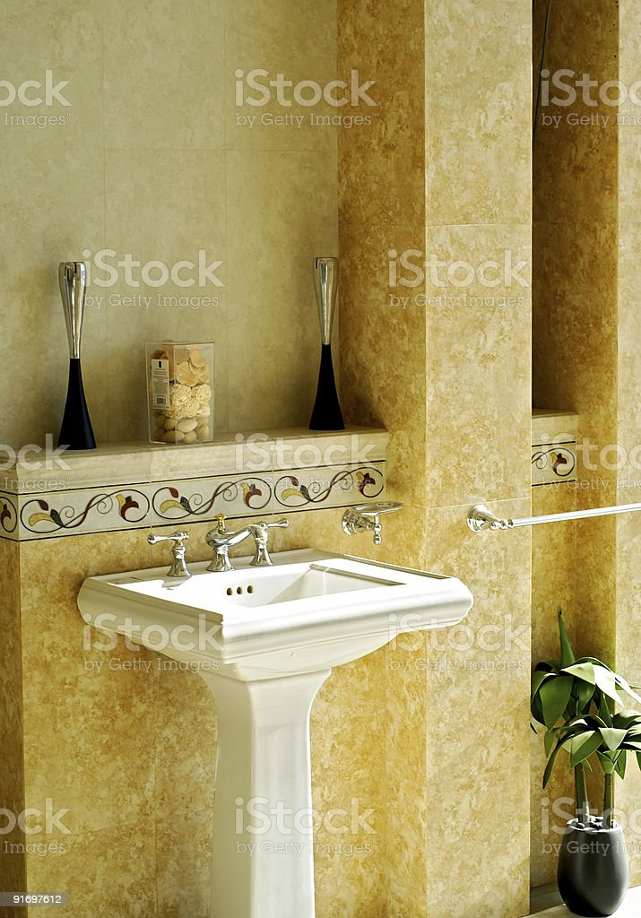 Pedestal Sink royalty-free stock photo