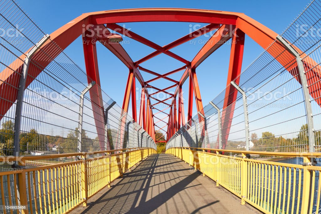 pedestrian bridge stock photo