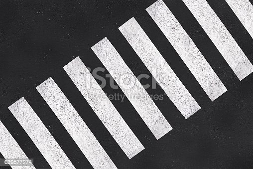Pedestrian crossing, asphalt road top view