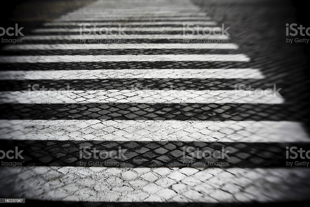 Pedestrian crossing in Rome royalty-free stock photo