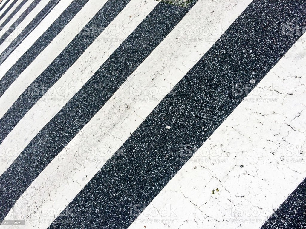 Pedestrian crossing lines royalty-free stock photo