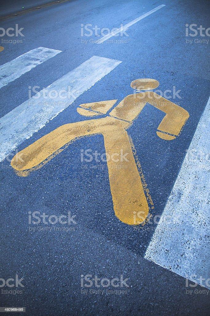 Pedestrian crossing stock photo