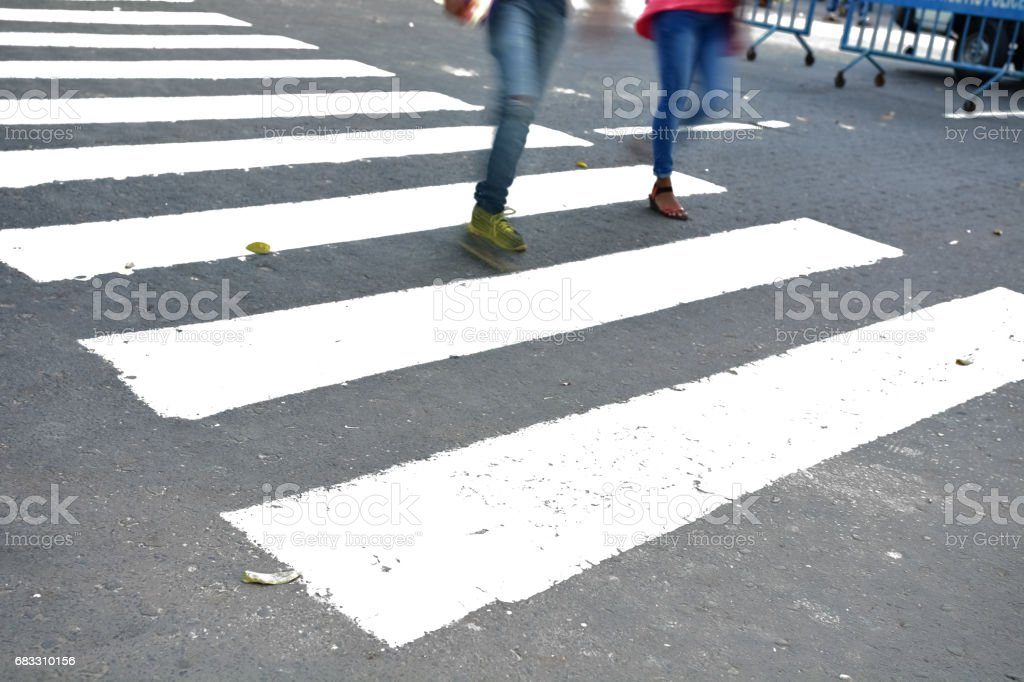 pedestrian crossing royalty free stockfoto