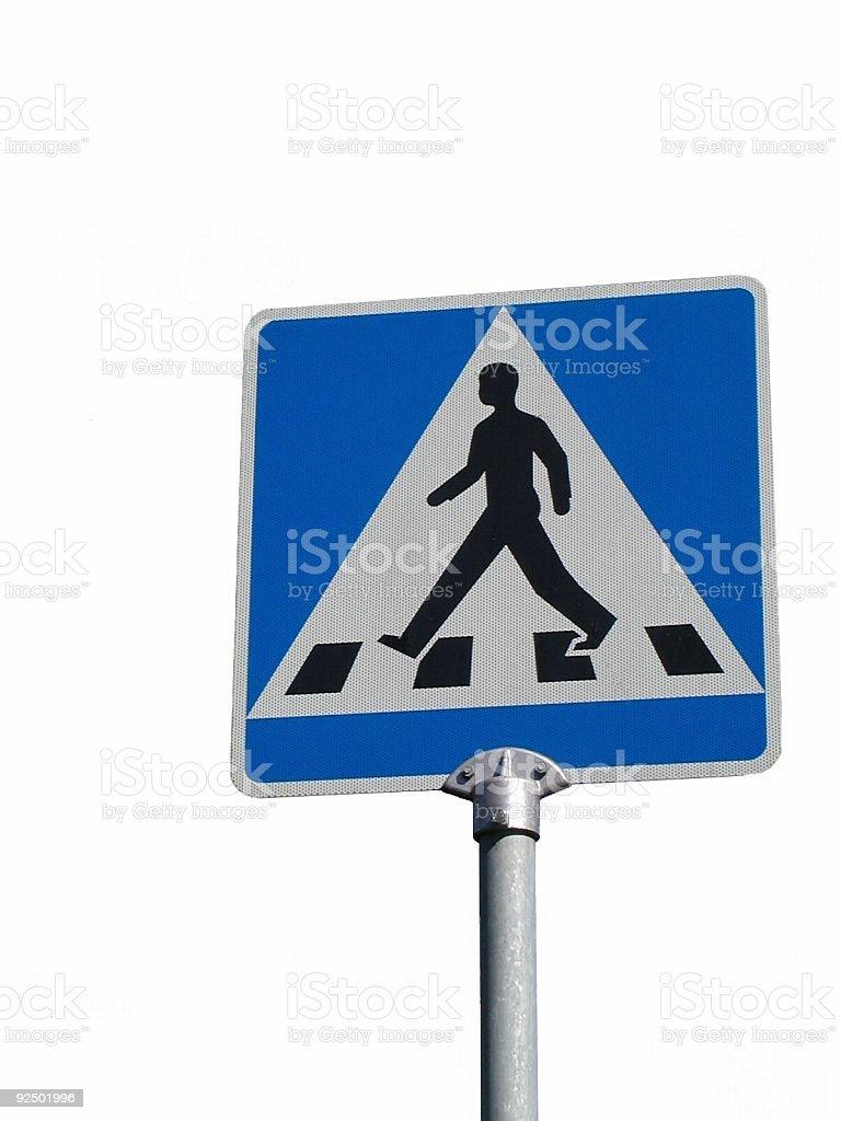 pedestrian crossing royalty-free stock photo