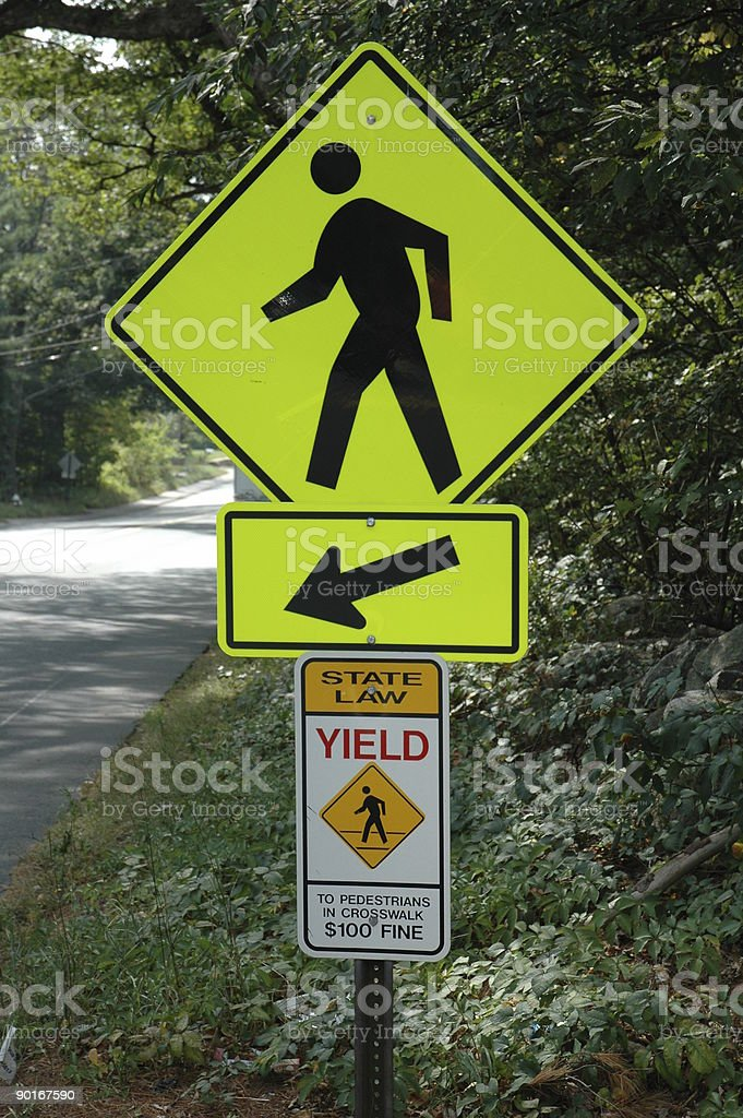 Pedestrian Crossing Sigh stock photo