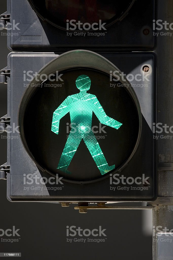 Pedestrian crossing signal in Hong Kong royalty-free stock photo