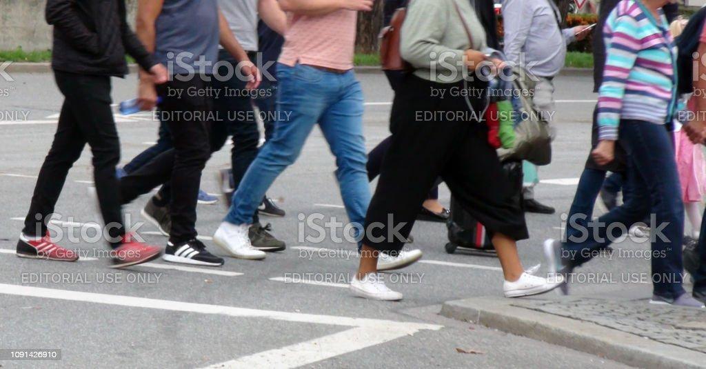 Pedestrian Crossing Zebra Crossing Scenery - Foto stock royalty-free di 2010