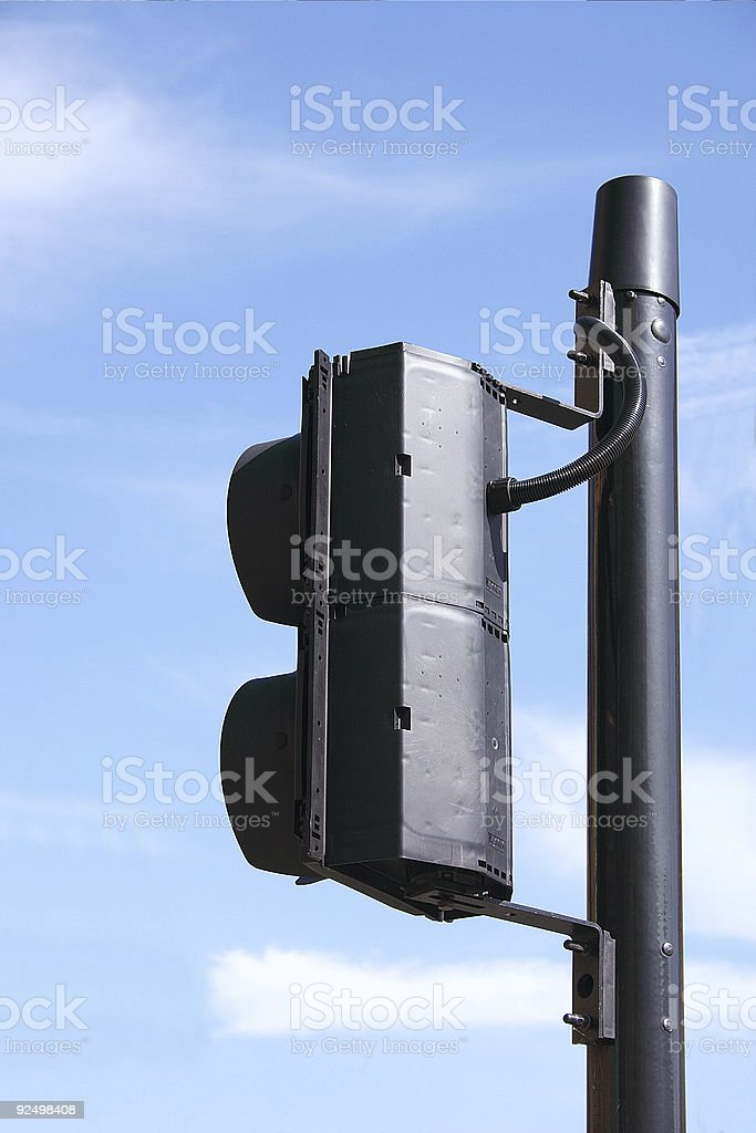 pedestrian light housing royalty-free stock photo