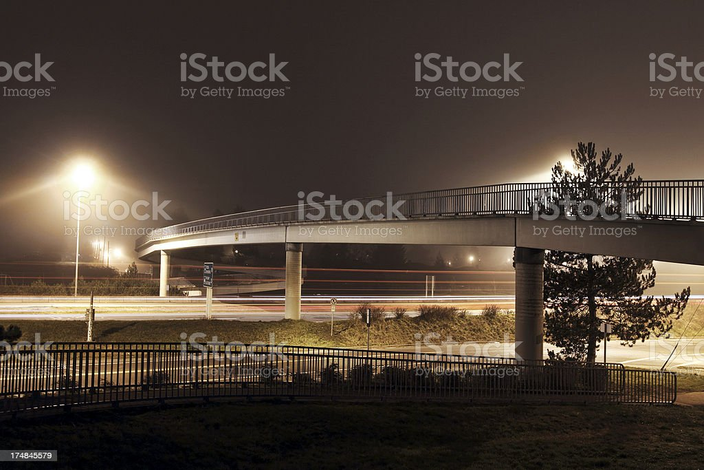 Pedestrian Overpass royalty-free stock photo