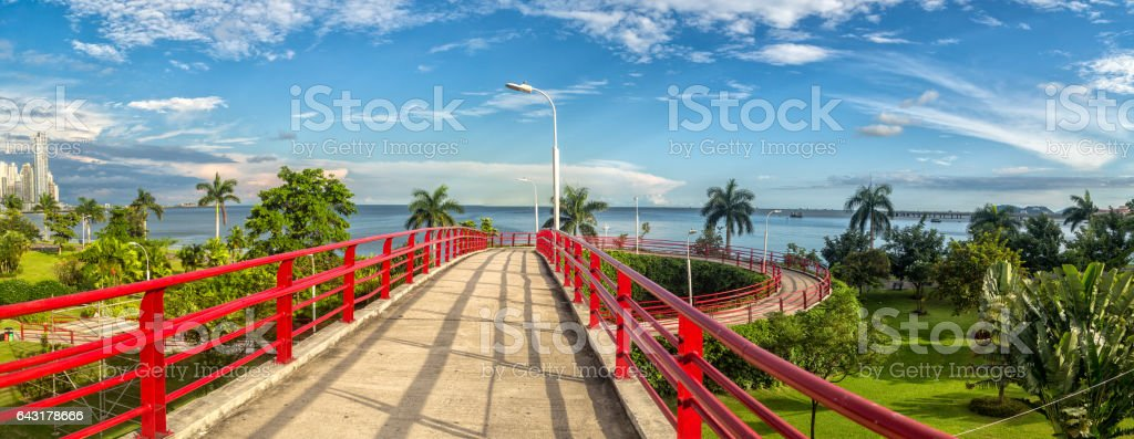 Pedestrian overpass stock photo