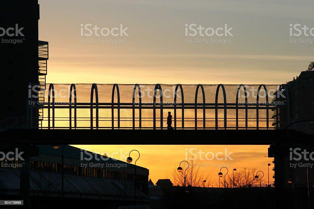 Pedestrian Overpass royalty-free stock photo