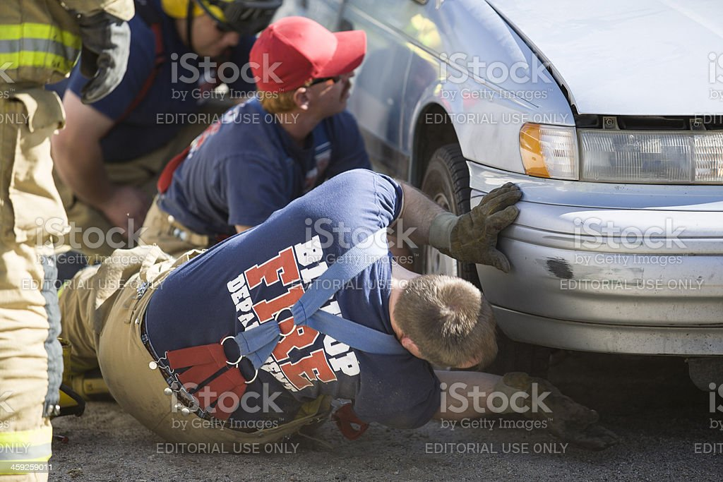 Pedestrian Rescue royalty-free stock photo