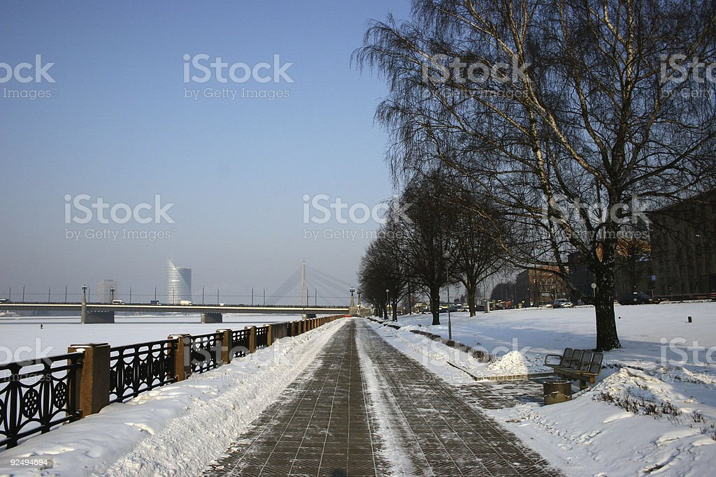 Pedestrian road royalty-free stock photo