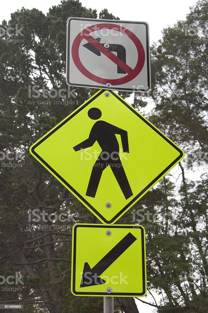 Pedestrian Roadsign royalty-free stock photo