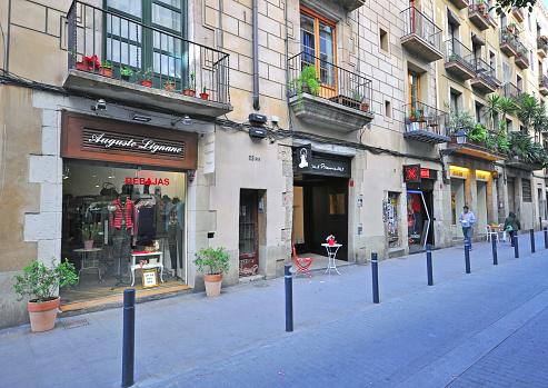 Pedestrian street in Barcelona