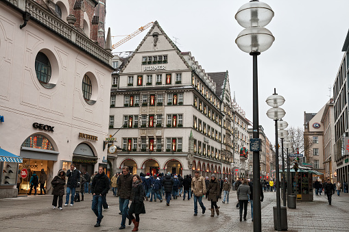 Pedestrian street in the center of Munich