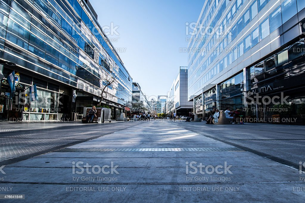 Pedestrian street stock photo
