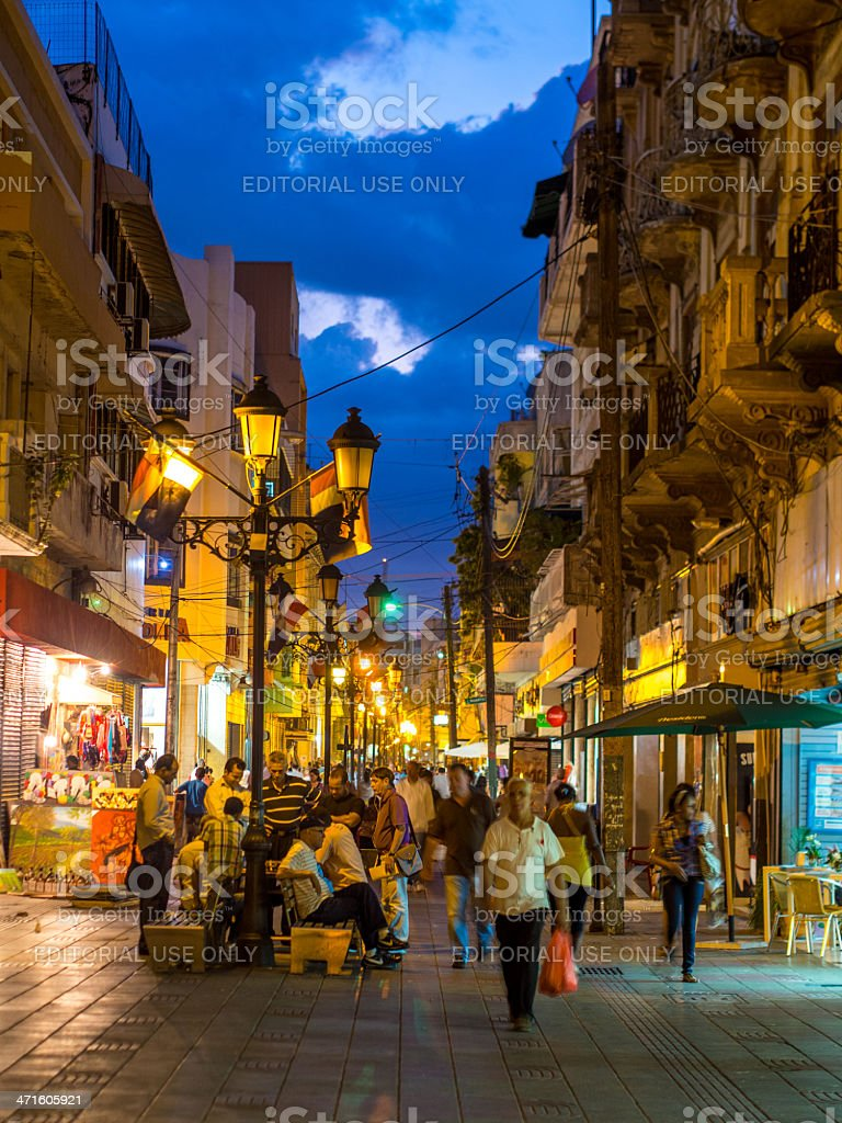 Pedestrian street, Santo Domingo, Dominican Republic royalty-free stock photo