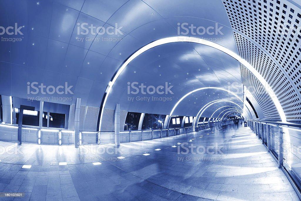 Pedestrian tunnel royalty-free stock photo
