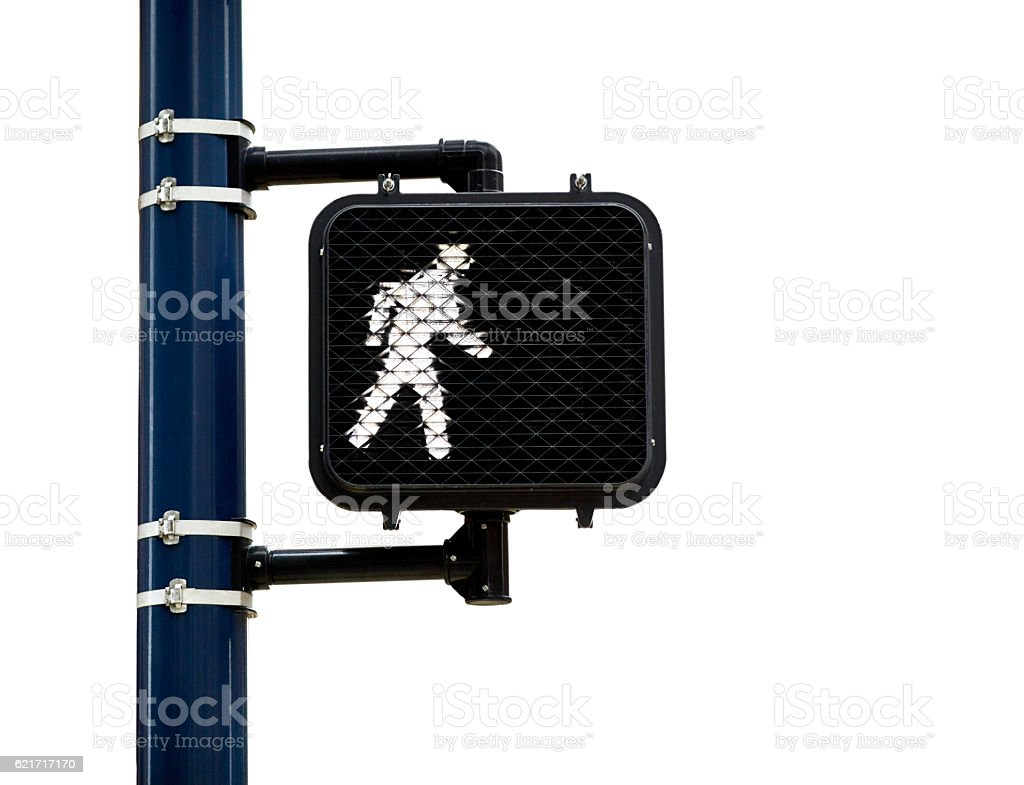 Pedestrian Walk Symbol isolated on White stock photo
