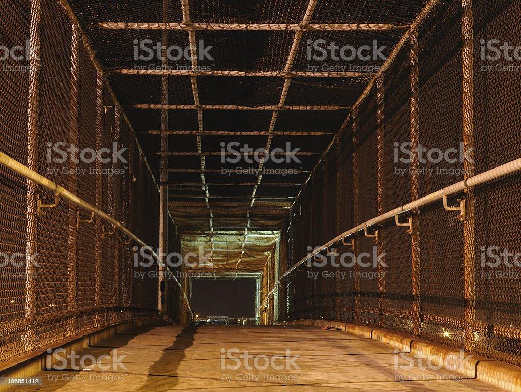 Pedestrian Walkway at Night royalty-free stock photo