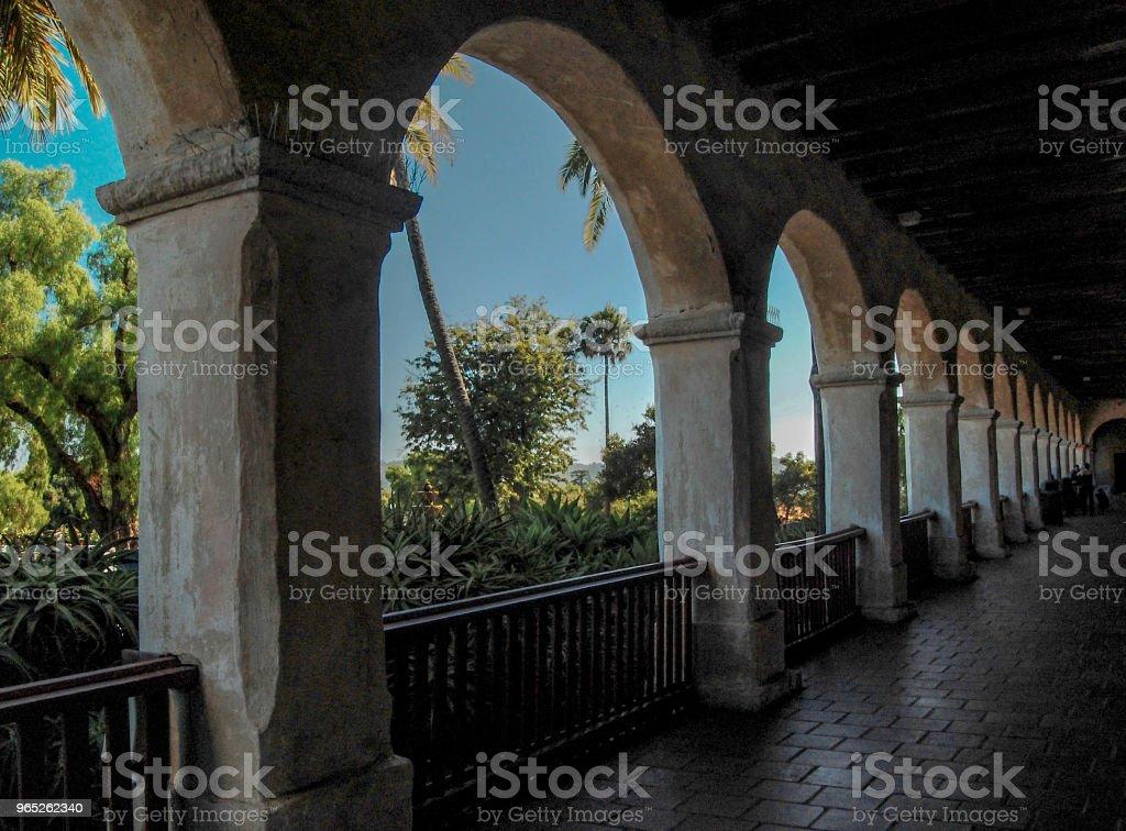 Pedestrian Walkway in Santa Barbara zbiór zdjęć royalty-free