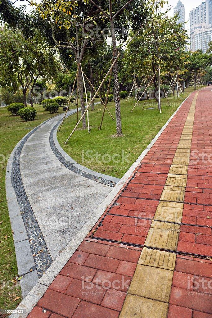 Pedestrian Walkways in Guangzhou Park royalty-free stock photo
