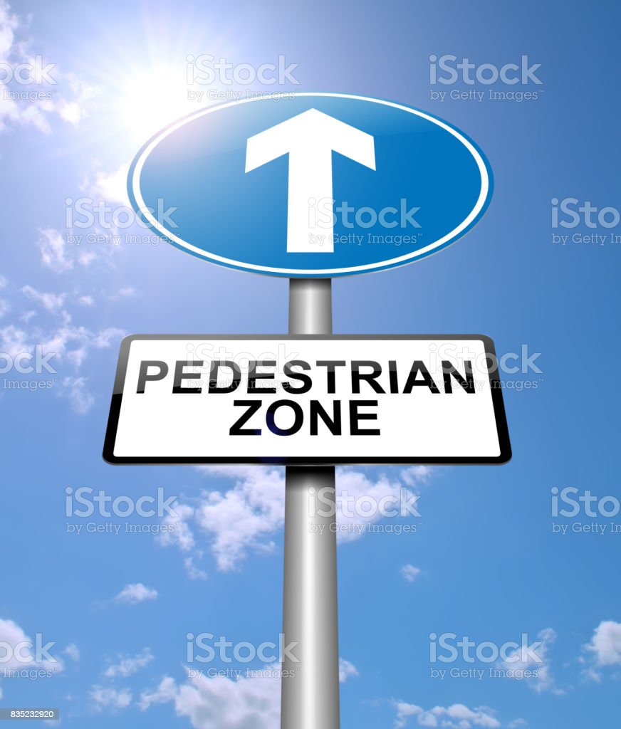 Pedestrian zone concept. stock photo