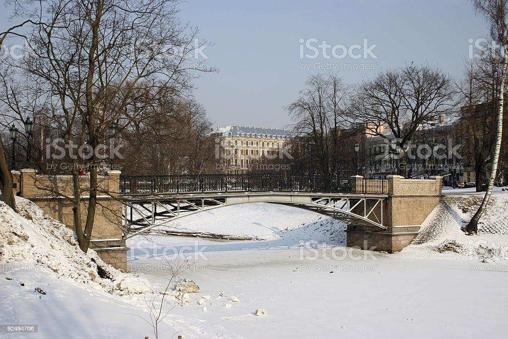 pedestrians bridge royalty-free stock photo
