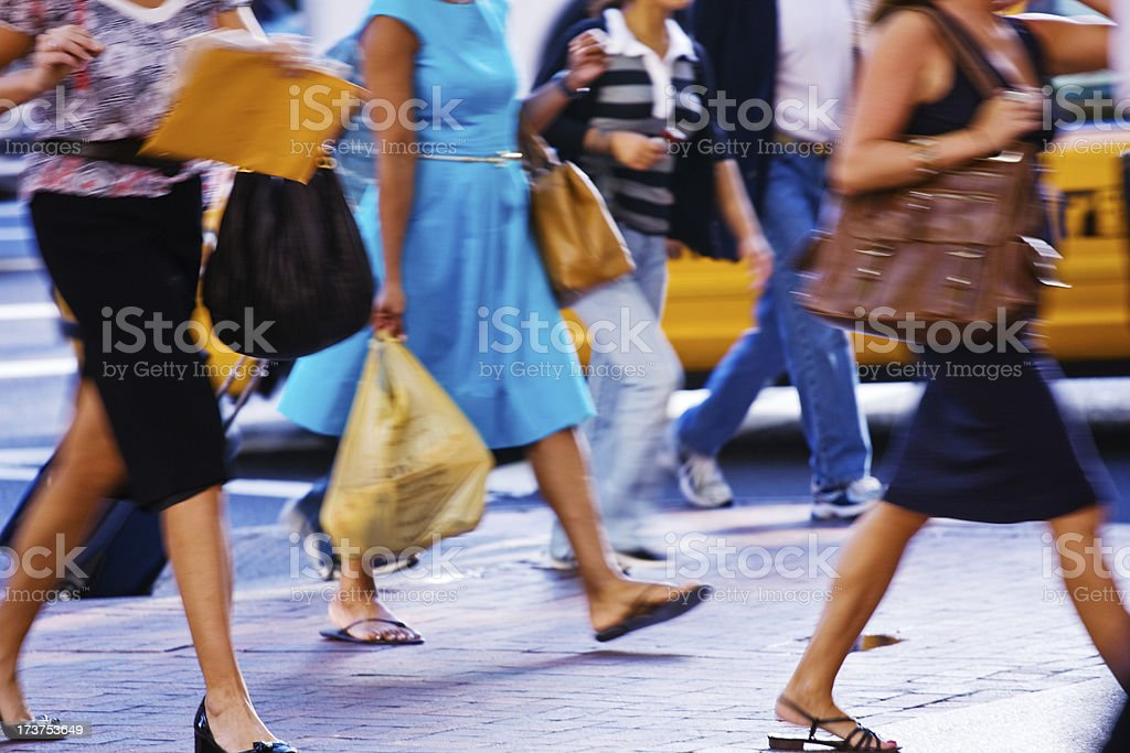 Pedestrians in NYC royalty-free stock photo