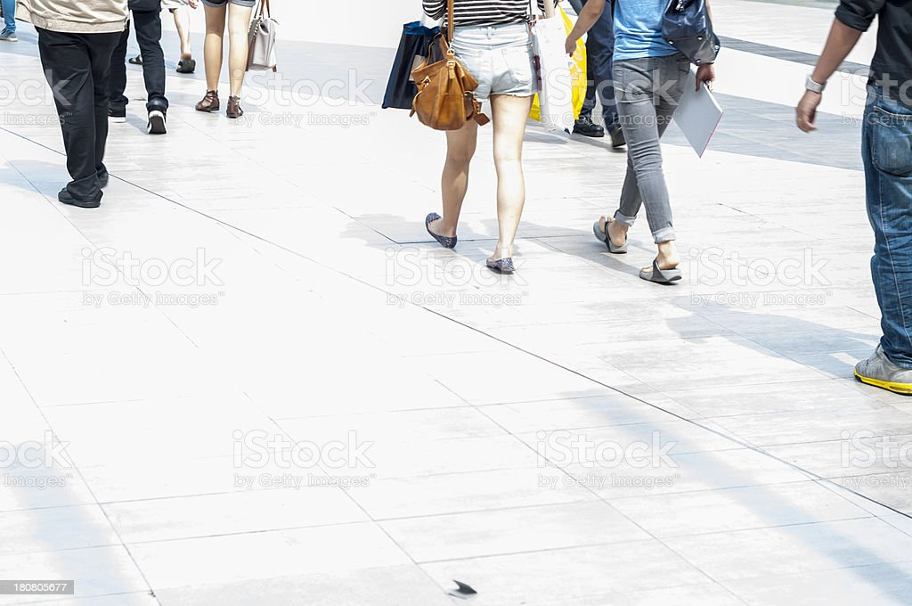 Pedestrians In The City stock photo