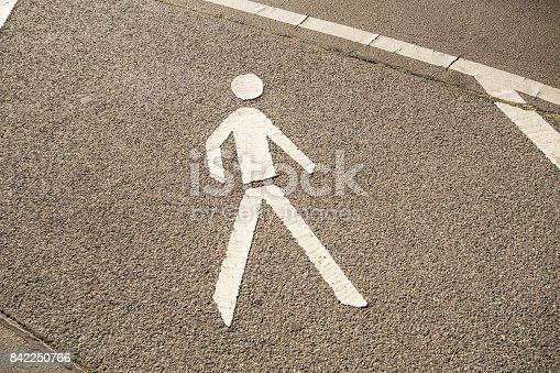 pedestrians sign on the street