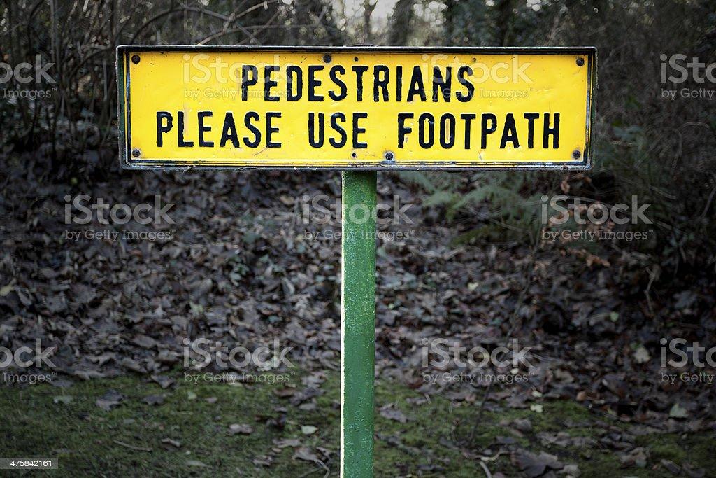 Pedestrians sign stock photo