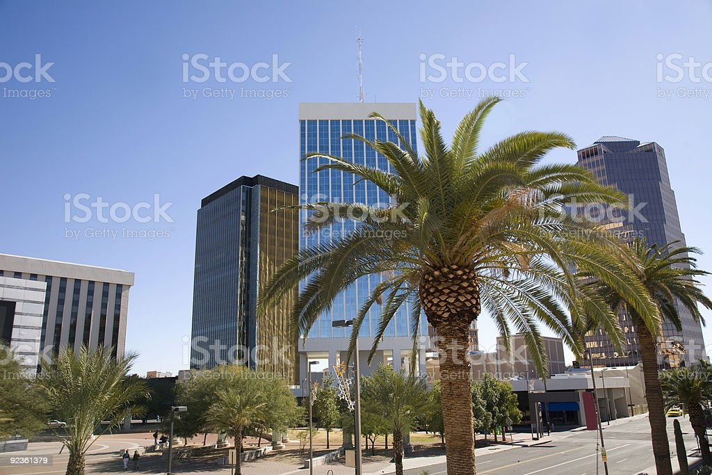 A pedestrians view in Tuscan Arizona royalty-free stock photo