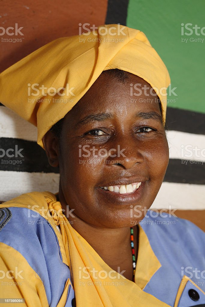 Pedi woman of South Africa royalty-free stock photo