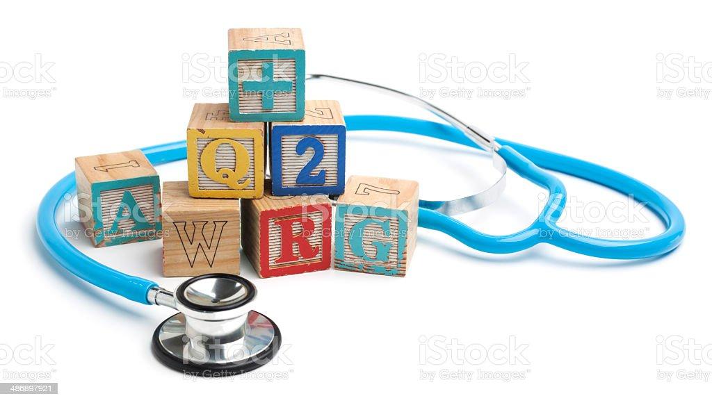 Pediatric care stock photo
