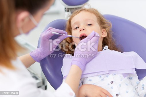 istock Pediatric dentist with patient 699195494